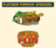 Platinum Pumpkin Sponsors, facebook post