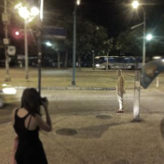 Letter to my husband, 2016. Latex, green tea and Blackberry. Carta ao meu marido, 2016. Látex, chá verde e Blackberry. Performer: Bruno Zanotto Vigna.  Castelinho do Flamengo, Rio de Janeiro, 2016.