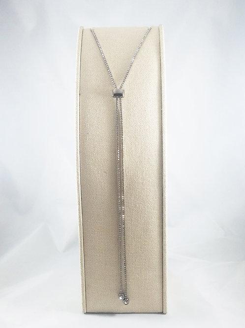 Slide Necklace Rhodium