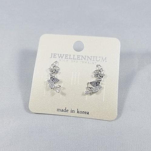 J-Line Earrings Rhodium: AJE3RH