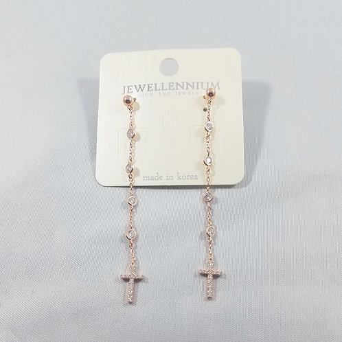 J-Line Earrings Rosegold: CJE8RG