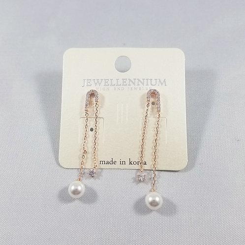 J-Line Earrings Rosegold: CJE3RG