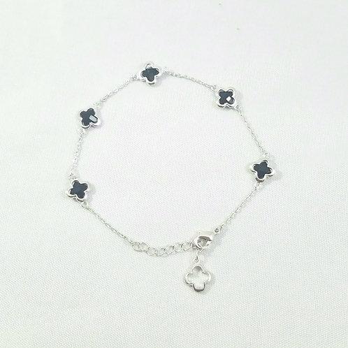 5 Clover Bracelet Rhodium