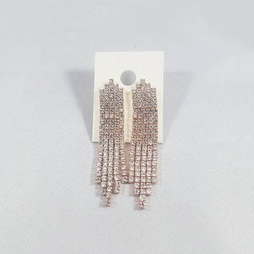 5 Line Drop Earrings Rosegold