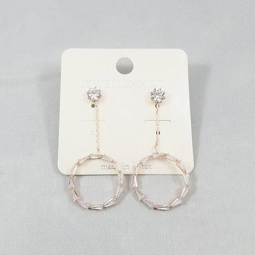 J-Line Earrings Rosegold: BJE8RG