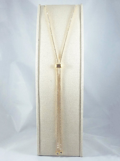 Slide Gold Necklace