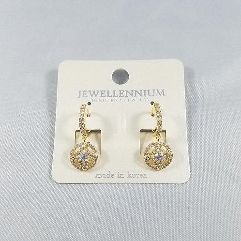 J-Line Earrings Gold: BJE5G