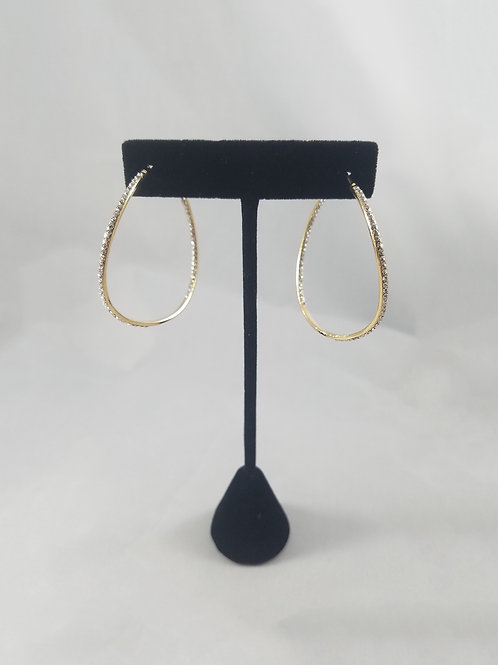 Large Curve In&Out Hoop Earrings Gold