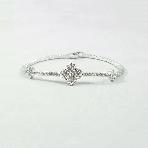 Lucky Clover Bracelet Rhodium