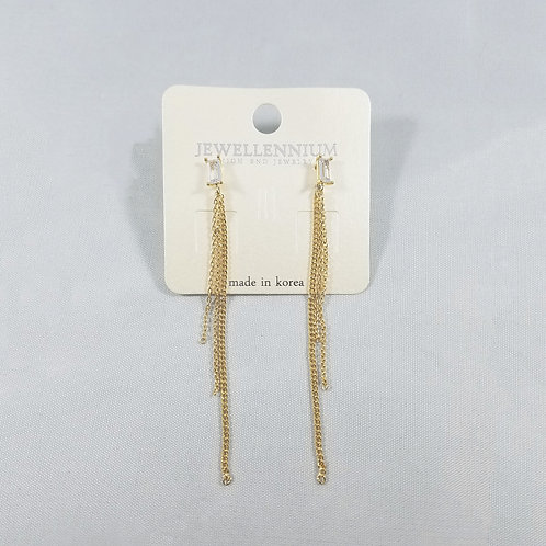 J-Line Earrings Gold: CJE7G