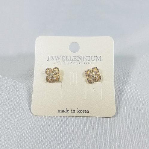 J-Line Earrings Gold: AJE4G