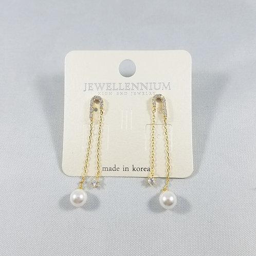 J-Line Earrings Gold: CJE3G