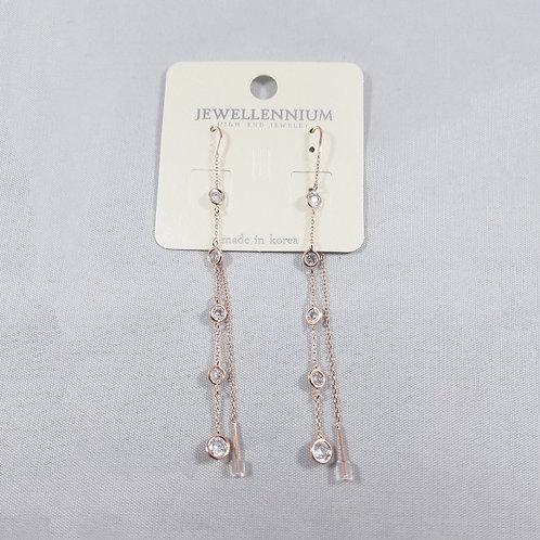 J-Line Earrings Rosegold: CJE6RG