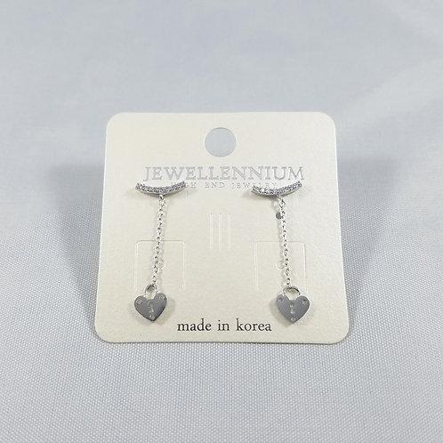 J-Line Earrings Rhodium: BJE1RH