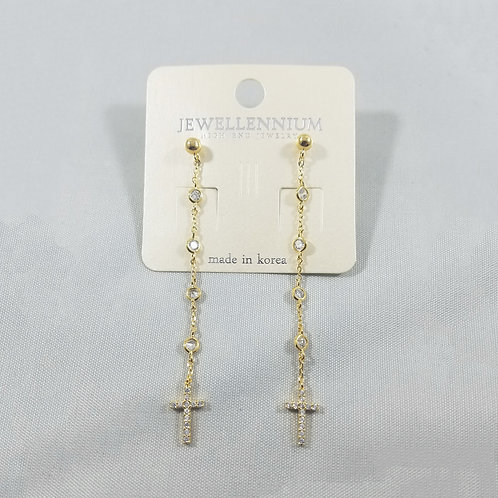 J-Line Earrings Gold: CJE8G