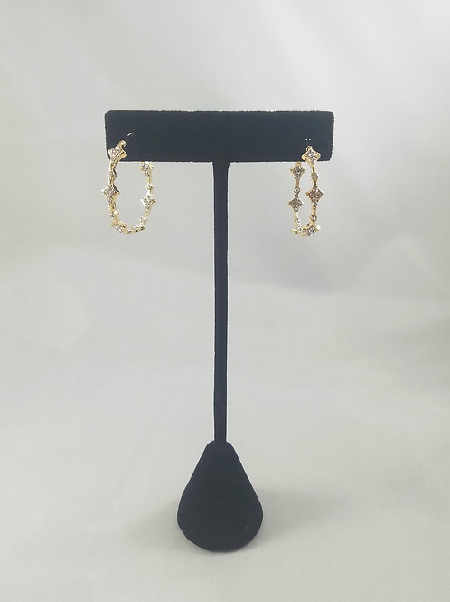 Venice In&Out Hoop Earrings Gold