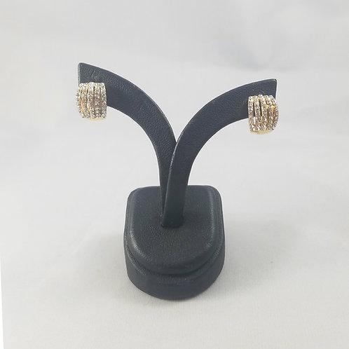 Shell Huggie Earrings Gold