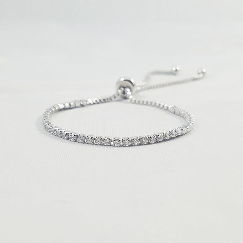 0.5 CT Adjustable Bracelet Rhodium