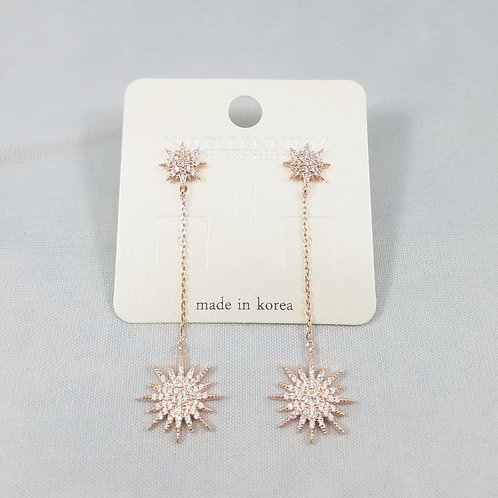J-Line Earrings Rosegold: CJE9RG