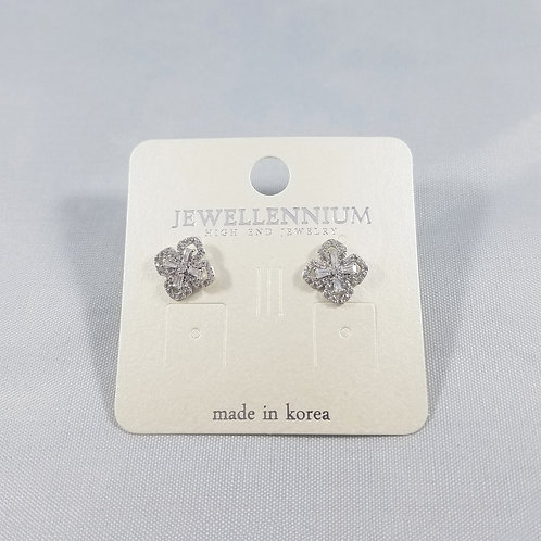 J-Line Earrings Rhodium: AJE4RH