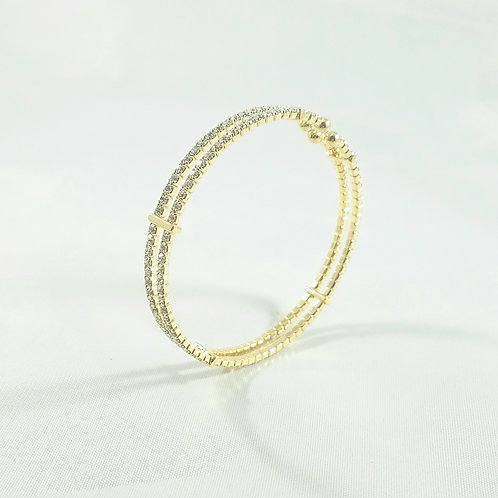Interspace Bangle Gold