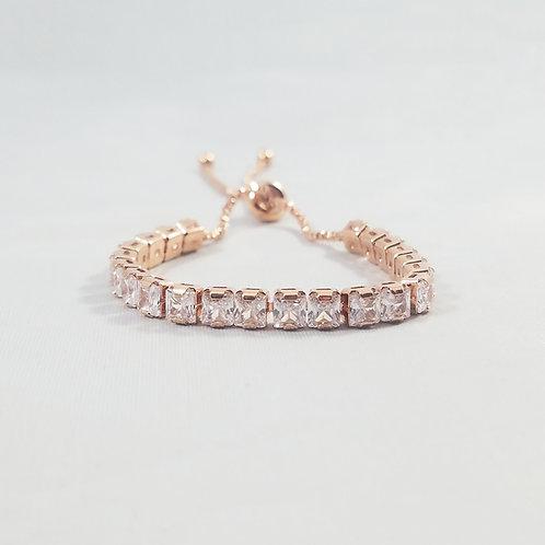 Cube Adjustable Bracelet Rosegold