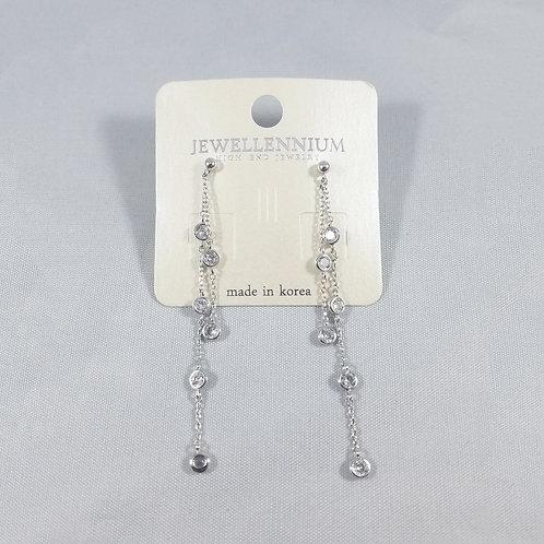 J-Line Earrings Rhodium:  CJE5RH