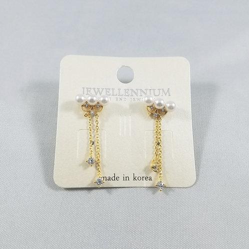 J-Line Earrings Gold: CJE4G