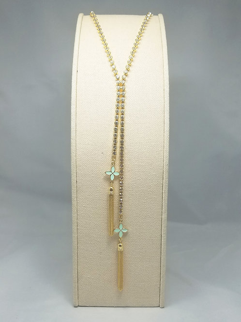 Flower Y-Long Necklace