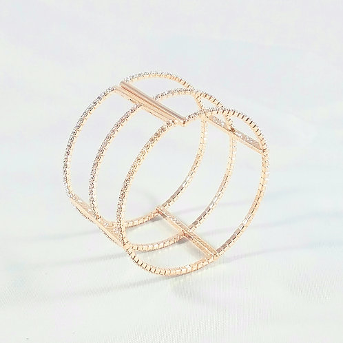Big Interspace Bangle Rosegold