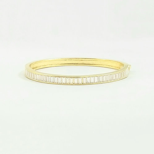 Emerald Cut Bangle Gold