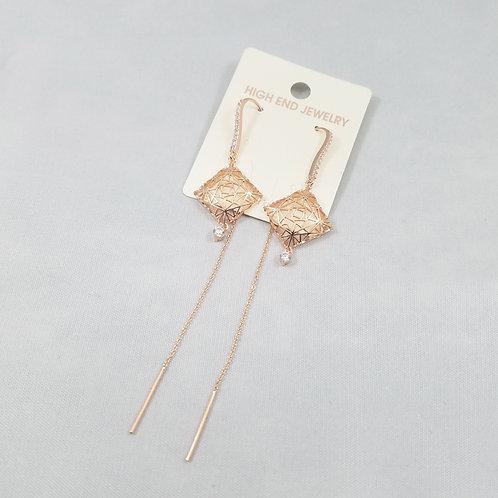 J-Line Earrings Rosegold: CJE10RG