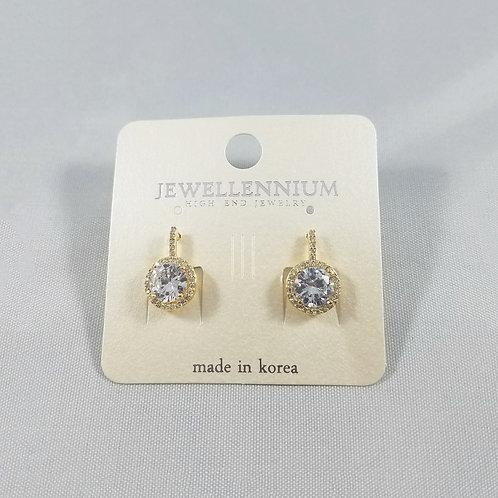 J-Line Earrings Gold: AJE5G