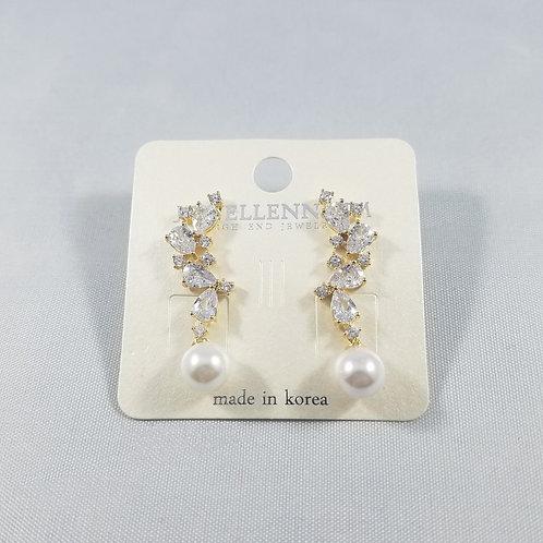 J-Line Earrings Gold: BJE3G