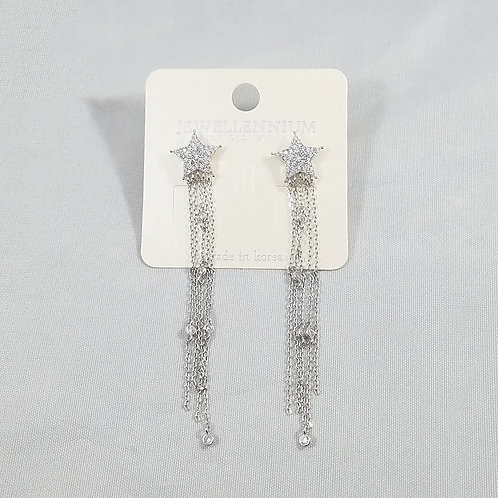 J-Line Earrings Rhodium: CJE11RH
