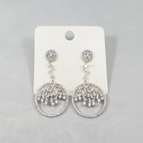 J-Line Earrings Rhodium: BJE9RH