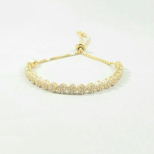 Bouquet Adjustable Bracelet Gold