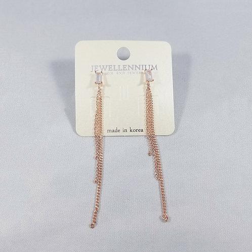 J-Line Earrings Rosegold: CJE7RG