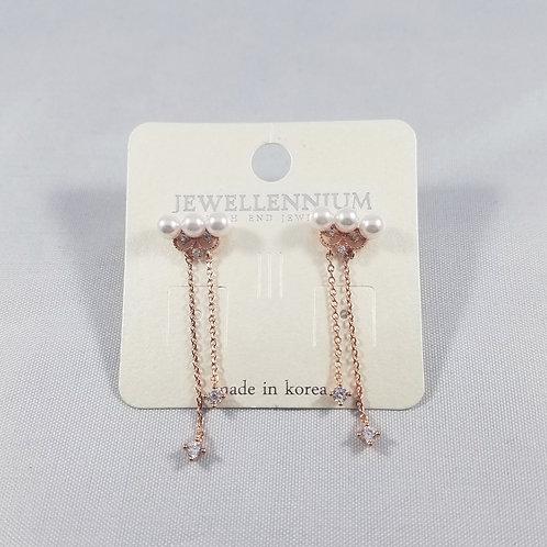 J-Line Earrings Rosegold: CJE4RG
