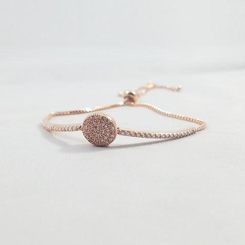 Karma Ajustable Bracelet Rosegold