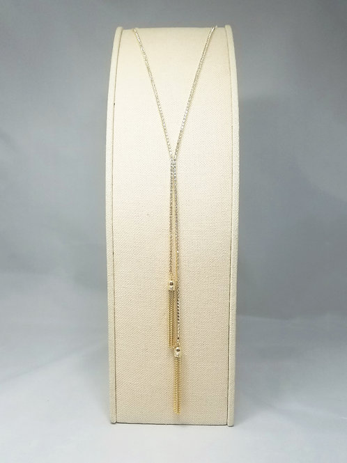 Tassel Y-Long Necklace Gold