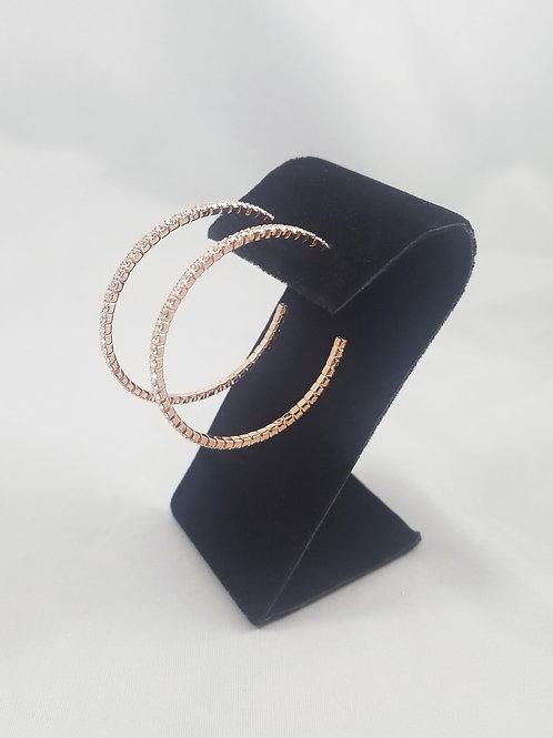 Medium 1 Line Hoop Earrings Rosegold