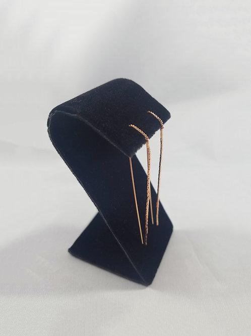 Raindrop Thread Earring Rosegold