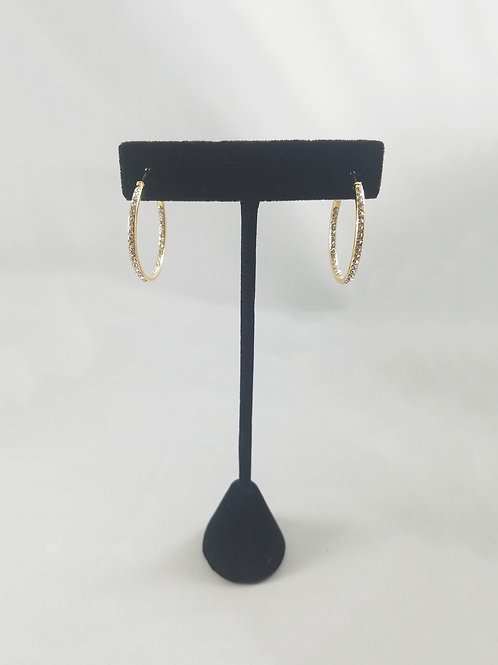Small In & Out Hoop Earrings Gold