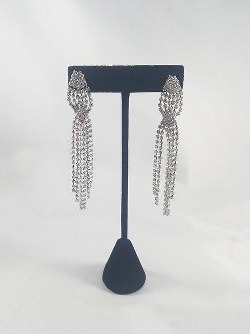Twist Earrings Rhodium