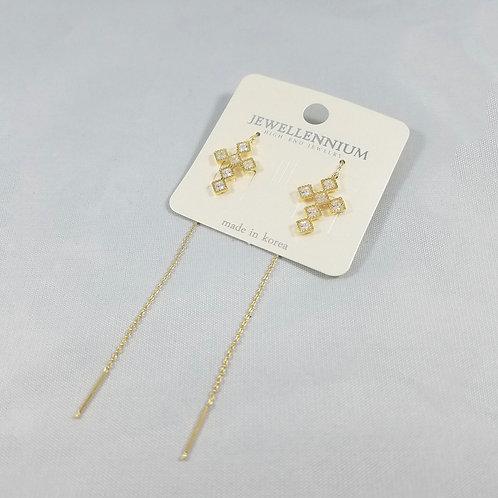J-Line Earrings Gold: CJE2G