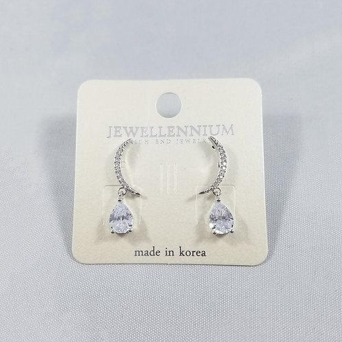 J-Line Earrings Rhodium: BJE4RH