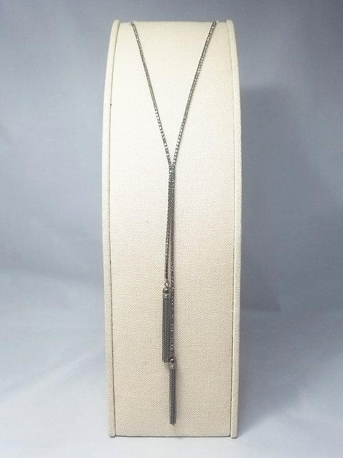 Tassel Y-Long Necklace Black