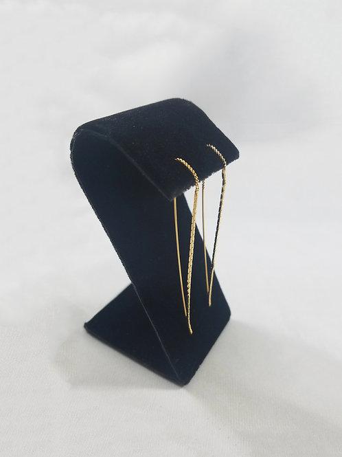 Raindrop Thread Earring Gold