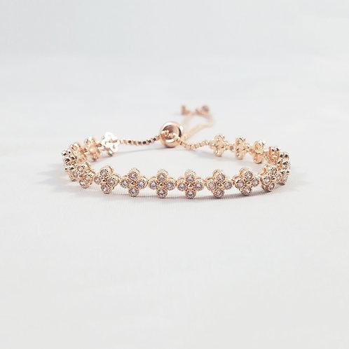 Clover Adjustable Bracelet Rosegold